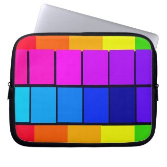 Spectrum Colorful 5 Zippered Soft Laptop iPad Case