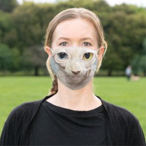 Sphynx Cat Face Cloth Face Mask