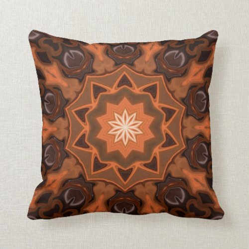 Spicy Pumpkin Pie. Throw Pillow