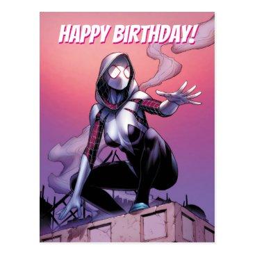 Spider-Gwen On Rooftop Postcard