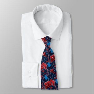 Spider-Man and Spider Logo Pattern Tie