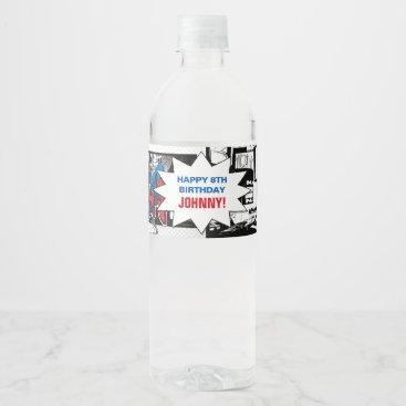 Spider-Man Birthday Water Bottle Label