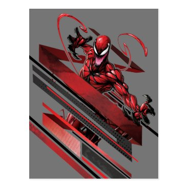 Spider-Man | Carnage Recto Linear Graphic Postcard