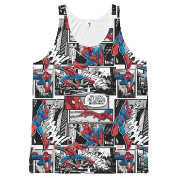 Spider-Man Comic Panel Pattern All-Over-Print Tank Top