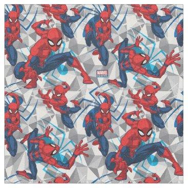 Spider-Man | Geometric Character Art Pattern Fabric