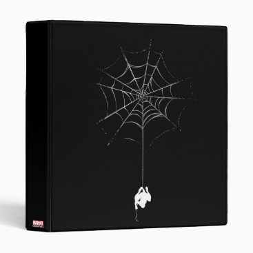 Spider-Man Hanging From Web Silhouette 3 Ring Binder