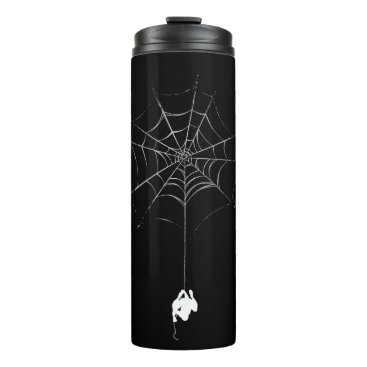 Spider-Man Hanging From Web Silhouette Thermal Tumbler