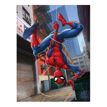Spider-Man | Hanging Upside-Down From Web Postcard
