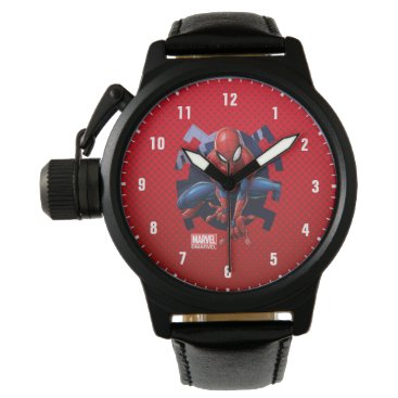 Spider-Man Leaping Out Of Spider Graphic Wrist Watch