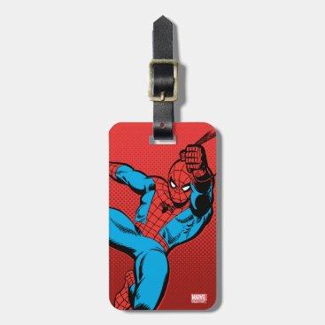 Spider-Man Retro Swinging Kick Luggage Tag