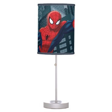 Spider-Man Swinging Through Downtown Table Lamp