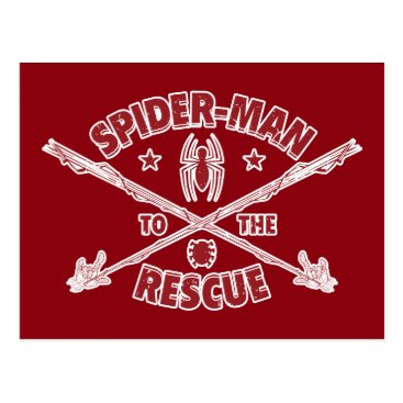 Spider-Man To The Rescue Postcard