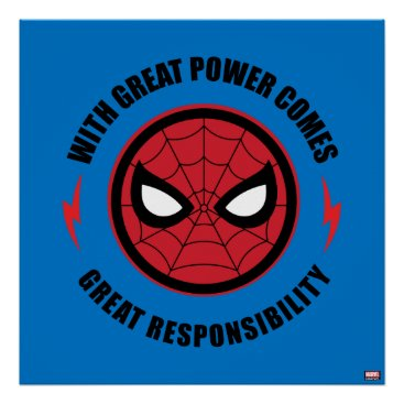 "Spider-Man | ""With Great Power"" Icon Badge Poster"