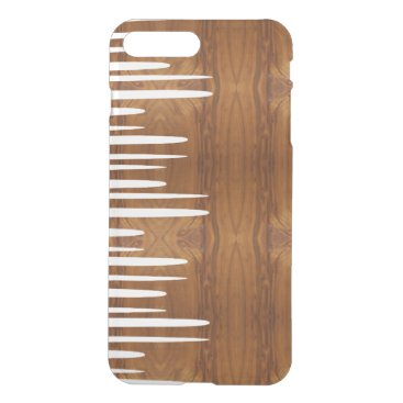 Spiked Stacked White Lines wood look iPhone 8 Plus/7 Plus Case