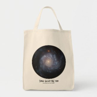 Spiral Galaxy NGC 1309 Tote Bag with Title