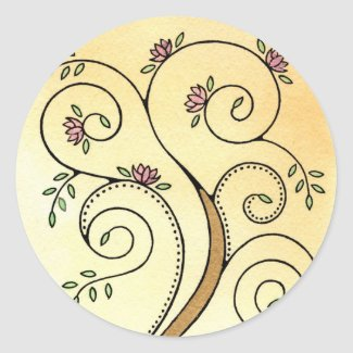 Spiral Tree Stickers sticker