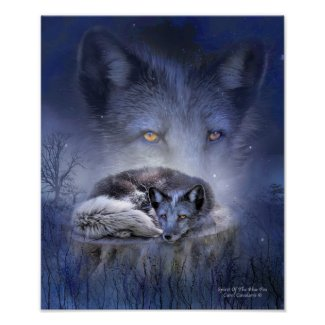 Spirit Of The Blue Fox Art Poster/Print