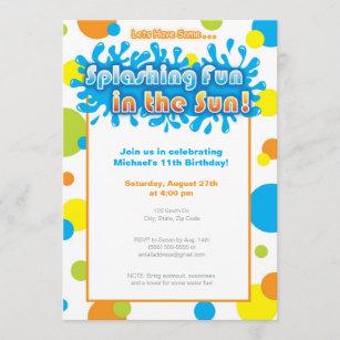 water balloon invitations zazzle
