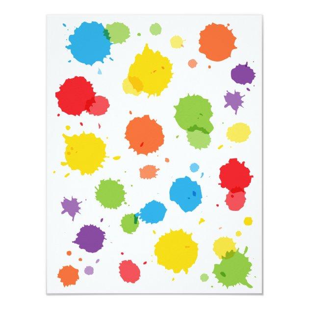 Splat Paintball Kids Birthday Party Invitations Zazzle