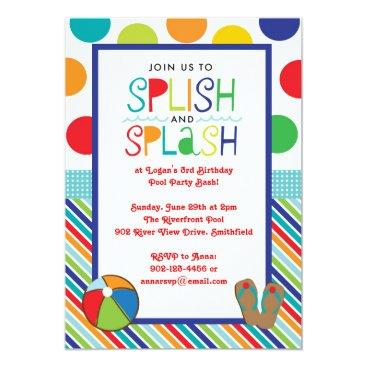 Splish Splash Bash (Blue) Invitation