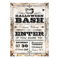 Spooky Vintage Halloween Party Invitation