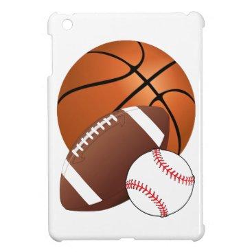 Sports Balls Basketball Football Baseball Fan iPad Mini Case
