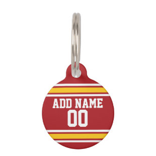 Sports Team Football Jersey Custom Name Number Pet ID Tags