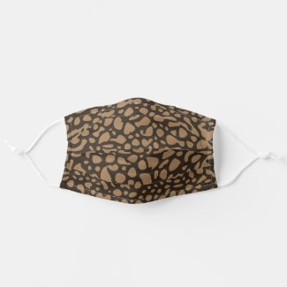 Spots Pattern | Brown Cloth Face Mask
