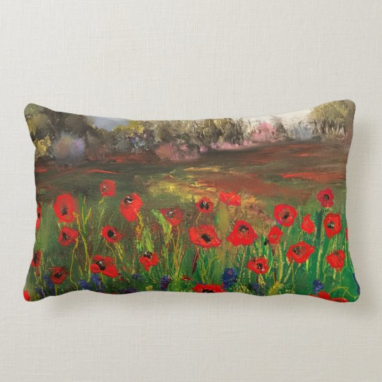 Spread The Love Beautiful Love of Poppies Lumbar Pillow