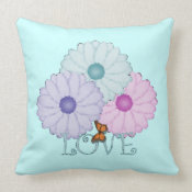Spring Blooms: Love Pillow throwpillow