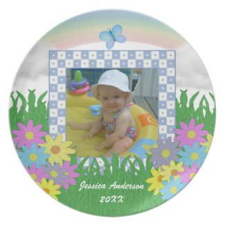 Spring Blooms: Personalized Picture Keepsake Plate plate