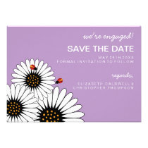 Spring Fling Daisies SAVE THE DATE-Violet Invitations