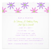 Spring Floral Print Party Invitations