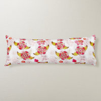 Spring Flowers & Ladybugs Body Pillow