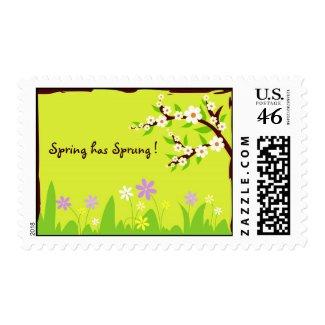 Spring has Sprung ! stamp