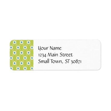 Spring Lime Green Blue Circles Mother's Day Gifts Label