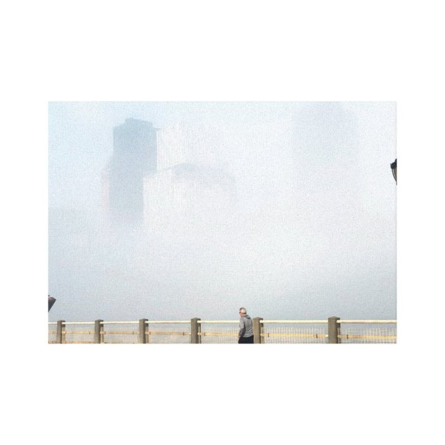 Spring Morning, Roosevelt Island, East River Canvas Print