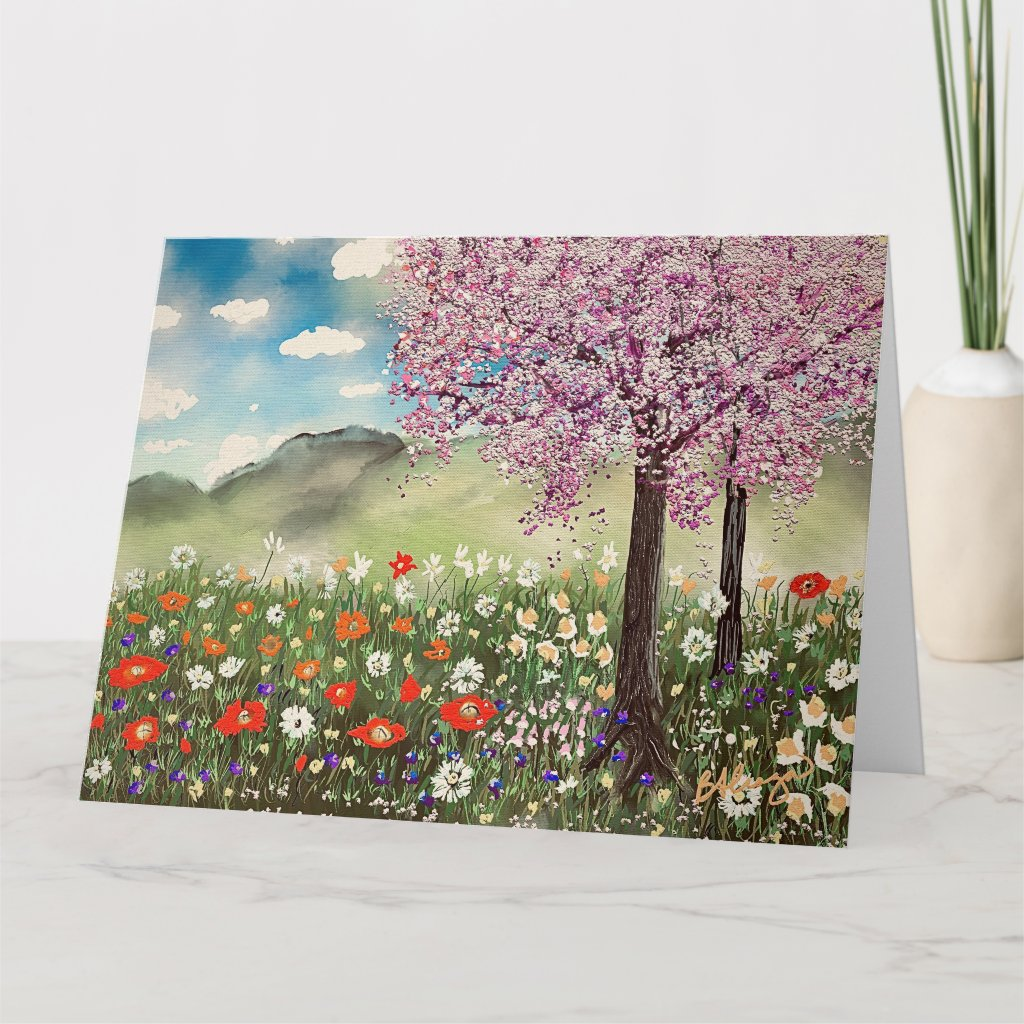 Spring Painting Stationery Card