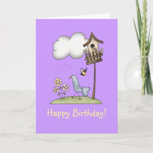 Spring Stuff · Birdhouse & Bird Card