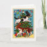 Springer Spaniel Dog Christmas Greeting Card