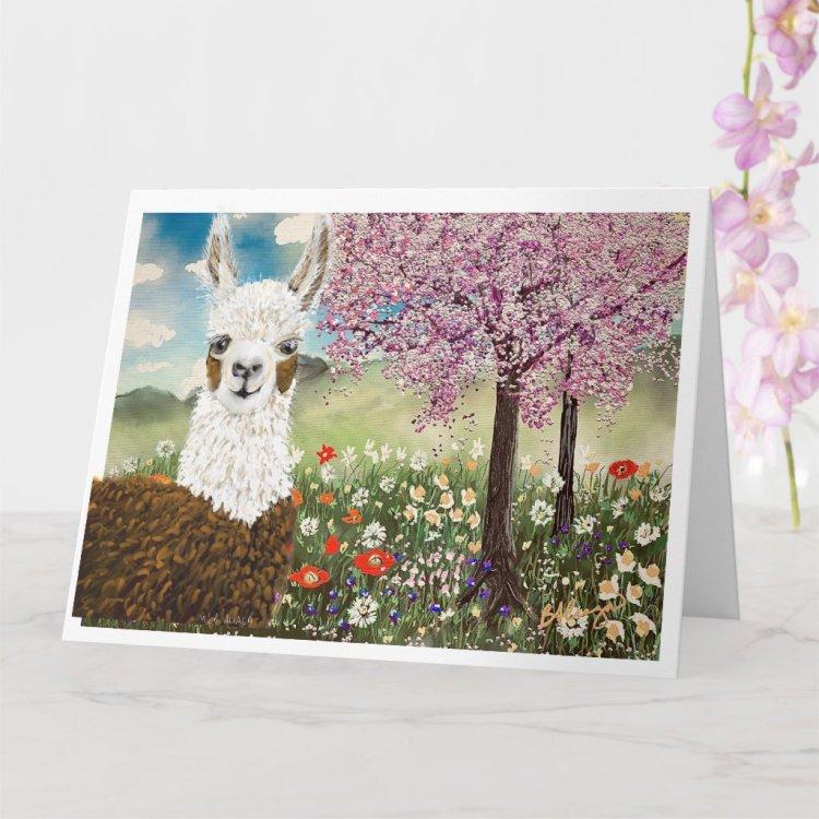 Springtime Flowers Card