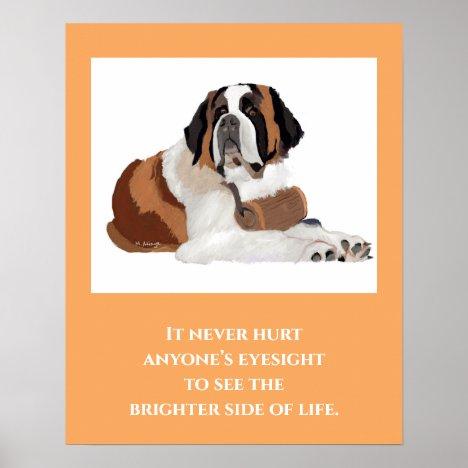 St. Bernard Print, Value Poster Paper (Matte)