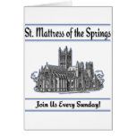 """St. Mattress Of The Springs"" Church cards"