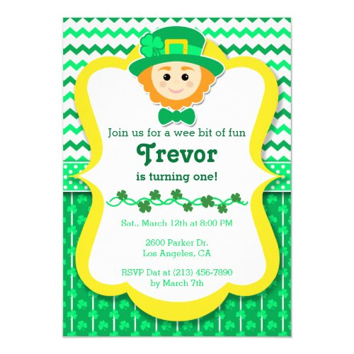 St. Paddy's Day Birthday Party Invitation