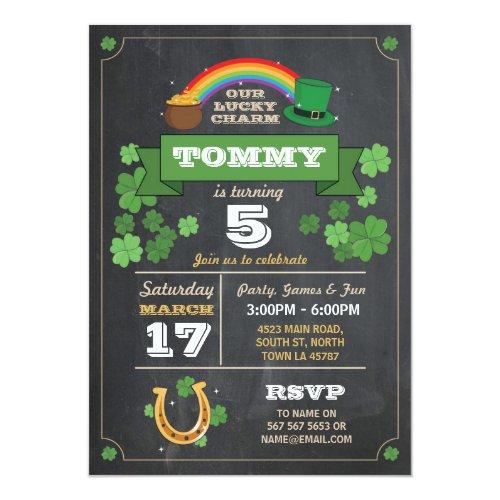 St. Patricks Day Birthday Party Invite 3 4 5 6 7 8