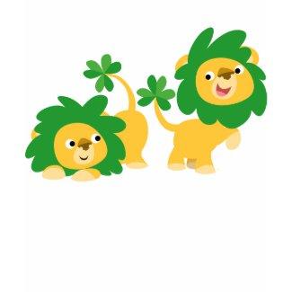 St Patrick's Day Cartoon Lions Women T-shirt shirt