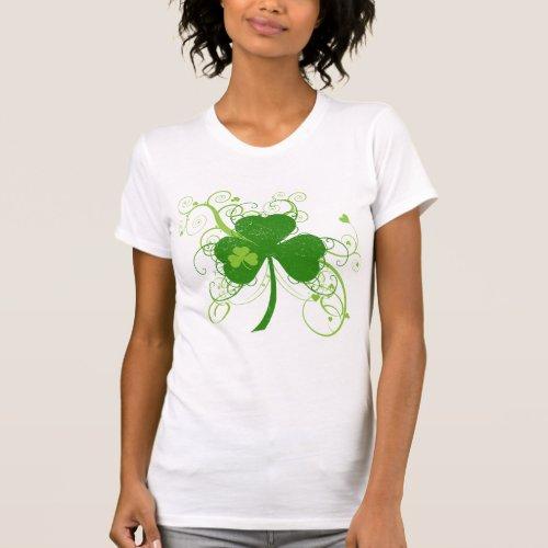 St Patricks Day Fancy Shamrock T-Shirt