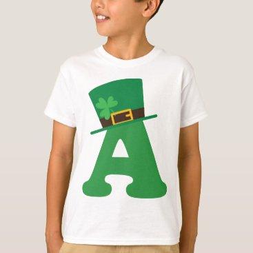 St Patricks Day Letter A Alphabet T-Shirt