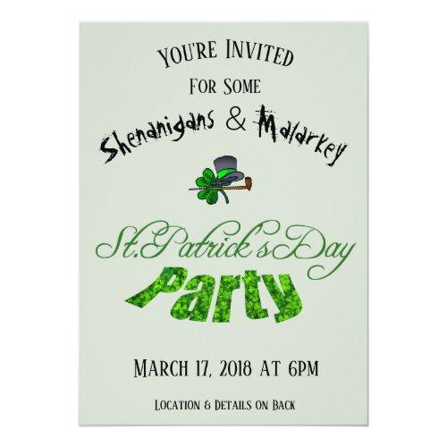 St. Patrick's Day Party Invitation Light Green -