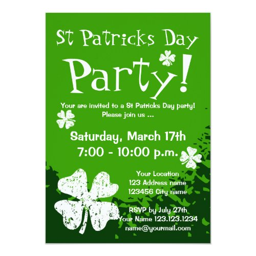 St Patricks Day party invitations | Customizable
